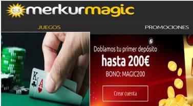 Merkurmagic entrega a los nuevos jugadores hasta 200 euros por primer depósito