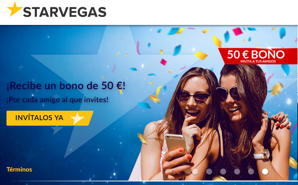 El primer depósito entrega hasta 200 euros en Casino Starvegas